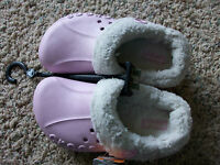 NEW CROCS BLITZEN PINK SHOES CLOGS GIRLS J1 REMOVEABLE LINING GIRLS BOYS KIDS 1
