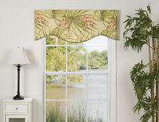Pink/Green/White Hawaiian Island Tropical Window Shaped Valance