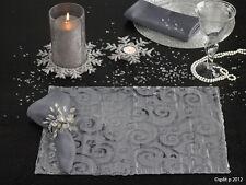 Velvet Scroll Platinum Christmas Holiday Single Placemat