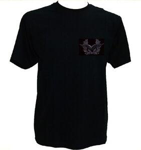 T-Shirt Luftwaffe schwarz,Schwingen,Luftwaffe der Bundeswehr,Kampfflieger,Pilot