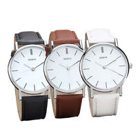 Fashion Men Women Watch Retro Leather Band Alloy Analog Quartz Wrist Watches