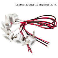 Willkey 5X SMALL 12 V LED MINI SPOT LIGHTS CAMPER VAN CARAVAN MOTORHOME - White