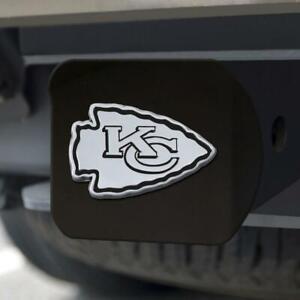 Kansas City Chiefs Hitch Cover Chrome Emblem on Black [NEW] Truck Cap Trailer