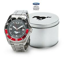 Ford Mustang High Tech Watch Black Silver Red Official Licensed
