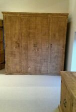 NEW SOLID WOOD RUSTIC CHUNKY QUAD WARDROBE WITH SHELVES MADE TO MEASURE