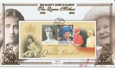 St LUCIA 2002 THE QUEEN MOTHER M/SHEET BENHAM FIRST DAY COVER SHS