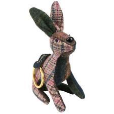 Joules Womens Tweedle Wool Tweed Character Hare Keyring