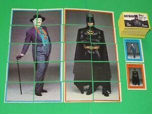 1989 BATMAN SERIES 2 TOPPS 132 CARD SET! MOVIE! JOKER! + 22 INSERT STICKER SET!