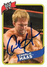 WWE SIGNED TRADING CARD CHARLIE HAAS WRESTLING HERITAGE WWF ECW