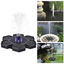 Solar Powered Floating BirdBath Water Fountain Pump LED Outdoor Pond Pool Decor