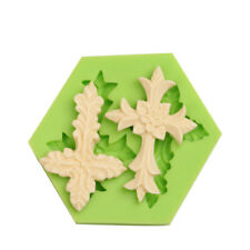 Silicone Christening Confirmation Crucifix Cross Mould Cake Decor Icing  2