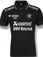 polo uomo BMW tricolore R1200GS nome personalizzato ricamato maglietta felpa t