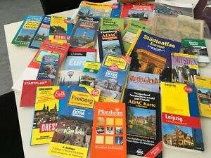 KONVOLUT Stadtpläne City Maps Infos BERLIN HAMBURG LEIPZIG DRESDEN HALLE etc.