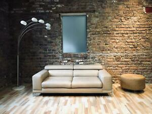 Roche Bobois Design Sofa  Leder Couch 2 Sitzer