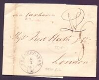 Früher Vorphilabrief von 1850 mit Schlüsselstempel Bremerhaven nach London (781)