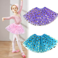 Girls Tutu Skirt Spotted Sequins Ballet 3 Layers Party Dancing Short Dress Hot