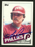 Tim Corcoran #302 signed autograph auto 1985 Topps Baseball Trading Card