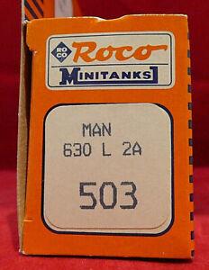 VINTAGE HO GAUGE Roco Minitanks #503 MAN630 L 32A Field Ambulance