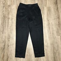 Chaus Women's Dress Pants ~ Sz 12 ~ Black ~ Pleated ~ Tapered ~ High Rise