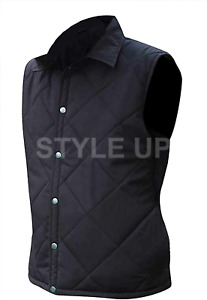 Men's Yellowstone Rip Wheeler Cole Hauser Casual Party Bomber Black Cotton Vest