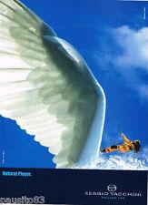 PUBLICITE ADVERTISING 075  2001  SERGIO TACCHINI les chaussures SAILING LAB