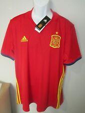 NWT Mens Adidas Spain National Team Football Soccer Jersey sz. 2XL   orig. $109