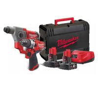 MILWAUKEE M12FPP2B-402X | Trapano Percussione + Tassellatore Batterie 12V 4.0Ah