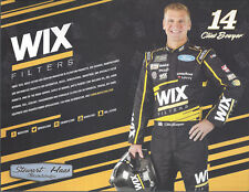 """2018 CLINT BOWYER """"WIX FILTERS CHICAGO"""" #14 NASCAR MONSTER ENERGY POSTCARD"""