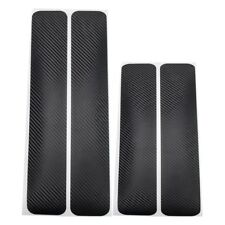 Accessories Carbon Fiber New Door Plate Sill Cover Sticker Anti Scratch Parts US