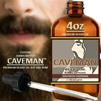 Beard Growth Oil Hair Mustache Facial Grow Natural Men Fast Serum 4oz Bay Rum