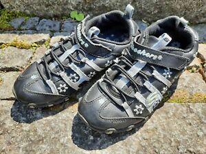 Skechers S Lights Mädchen Sneaker Blink Schuhe Gr. 31 schwarz hellblau silber