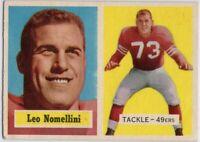 1957 Topps #6 Leo Nomellini VG-VGEX Crease San Francisco 49ers FREE SHIPPING