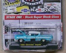 1958 Chevrolet Aqua Drags   1:64 Scale M2 Diecast