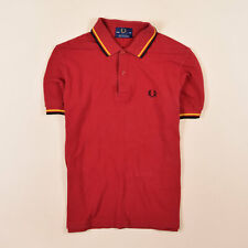 Fred Perry Herren Polo Poloshirt Shirt Gr.36 (S) Made In England Rot, 70293