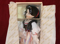 "15"" Dianna Effner Snow White Porcelain Doll,Mother Goose,By Knowles,COA,NIB"