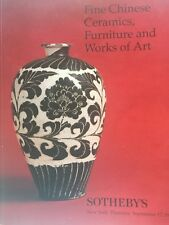 SOTHEBY's N.Y Fine Chinese Ceramics Furniture & Works of Art 9-17-1998 sale 7182