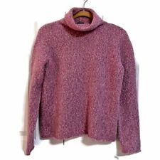 Eileen Fisher Petite Purple Long Sleeve Wool Blend Turtleneck Sweater Size MP