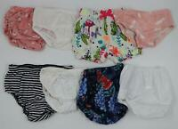 Multi Brand Baby Girl Colorful Diaper Covers Multi Sizes 0-18 Months LOT OF 8
