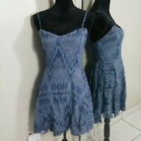 Aeropostale Fit N Flare Summer Dress Womens size Small Blue Printed