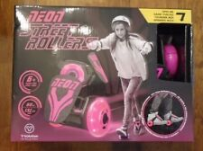 Pink Neon Street Rollers - Light Up Wheels - Fits Shoe - New In Box
