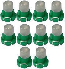 10x ampoules T3 LED 12V lumière verte pour tableau de bord