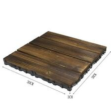 Bare Decor Floor Interlocking Flooring Tiles in Solid Teak Wood Oiled Finish