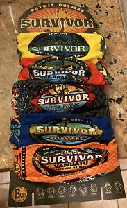 SURVIVOR BUFF SET VANUATA, ALL STARS, PEARL ISLAND, AMAZON, CLASSIC YELLOW 2004