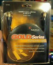 Gold Series Coaxial Video CABLE 6 Ft, Satellite Receiver, Cable Box, VCR to TV,