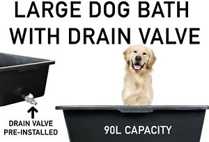 DOG BATH/Pool for LARGER DOGS with Easy-to-Empty DRAIN Tap, For Inside & Outside