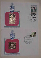 MONSERRAT FDC 2 GOLD FOIL 1979, 1981 BUTTERFLY  CACHET UNADDRESSED