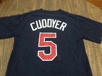 Michael Cuddyer Minnesota Twins MLB Majestic Small Navy T Shirt