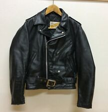 SCHOTT 613  ONE STAR PERFECTO SIZE36 LEATHER DOUBLE JACKET STEERHIDE VERY GOOD