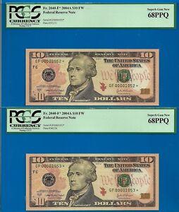Near TOP POP STAR - 2004-A $10 FRN (( 2nd Finest - Atlanta STAR )) PCGS 68PPQ-