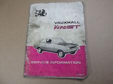 Owners repair manual for Vauxhall Viva GT...Rare .950+Citroen parts in SHOP